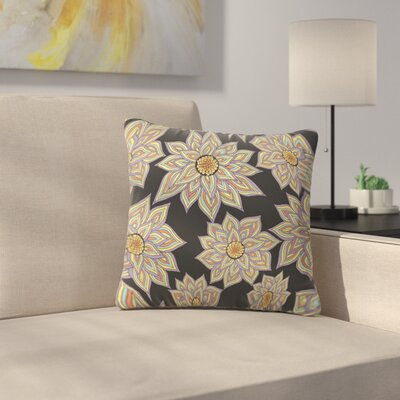 Floral Dance by Pom Graphic Design Outdoor Throw Pillow Color: Black
