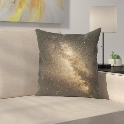 Luke Gram Milky Way Throw Pillow Size: 16 x 16