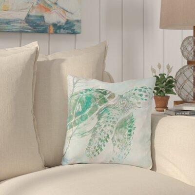 Burt Watercolor Sea Turtle Throw Pillow