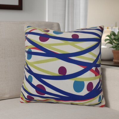 Doodle Decorations Outdoor Throw Pillow Size: 18 H x 18 W, Color: Royal Blue