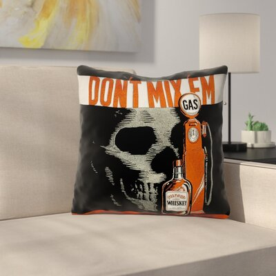 Anti-Drunk Driving Poster Square Outdoor Throw Pillow Size: 20