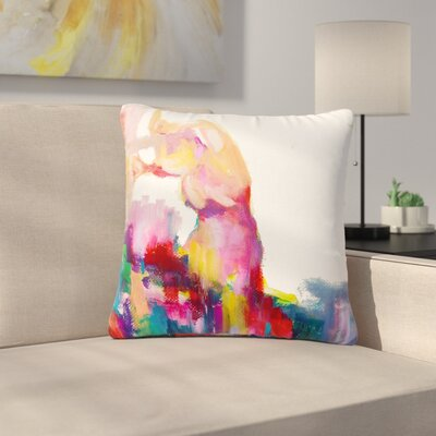 Cecibd Espana III Painting Outdoor Throw Pillow Size: 18 H x 18 W x 5 D