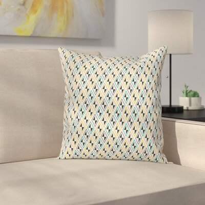 Funky Diamond Line Square Pillow Cover Size: 24 x 24