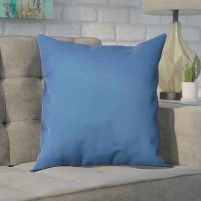Polyester Throw Pillow Size: 16 H x 16 W, Color: Moroccan Blue