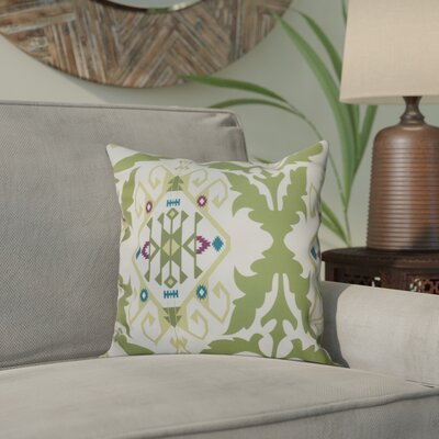 Meetinghouse Bombay Medallion Geometric Print Throw Pillow Size: 16 H x 16 W, Color: Green
