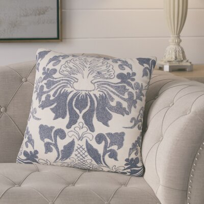 Nathan Decorative 100% Cotton Throw Pillow Color: Indigo