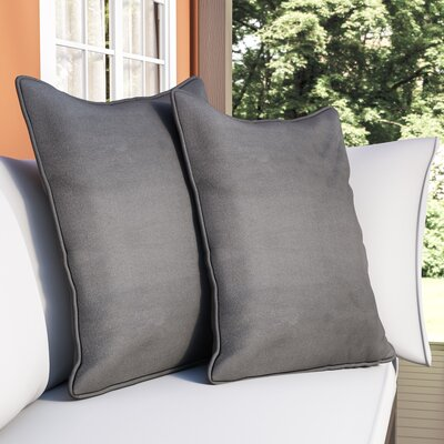 Katelyn Solid Floor Pillow Fabric: Gray