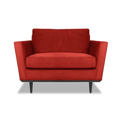 Provincial Armchair Upholstery: Red