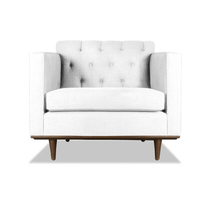 Puckett Armchair Upholstery: White