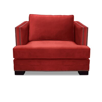Lecroy Armchair Upholstery: Red
