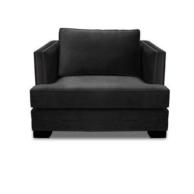 Lecroy Armchair Upholstery: Black