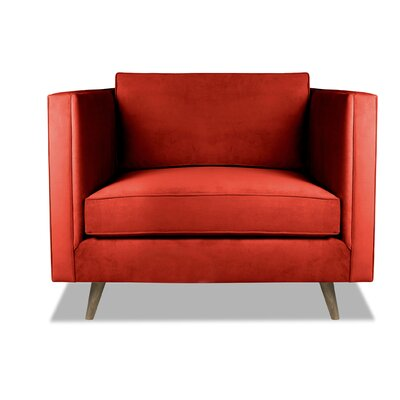 Pullman Armchair Upholstery: Red
