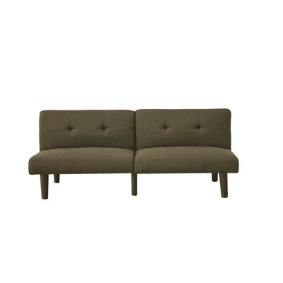 Onderdonk Adjusting Linen Convertible Sofa Upholstery: Olive