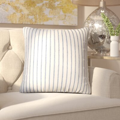 Brecken Striped Throw Pillow Color: Blue
