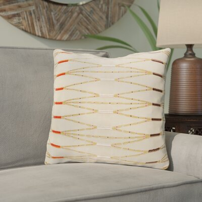 Chopra Cotton Throw Pillow Color: Brown