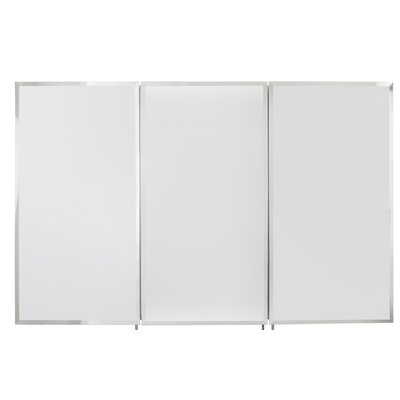 Triple Door Tri-View 48 x 31 Surface Mount Medicine Cabinet