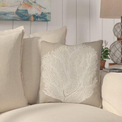 Brookline Coastal II Indoor/Outdoor Throw Pillow Size: 20 H x 20 W x 4 D, Color: Brown