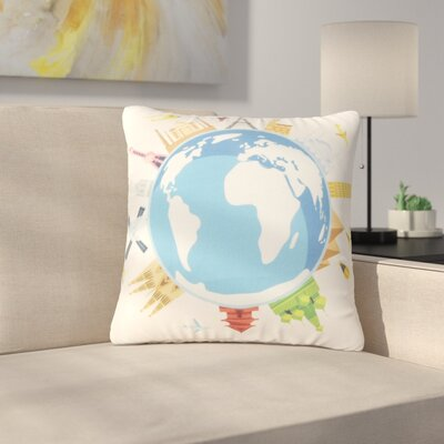 Sleiman Travel and Earth Throw Pillow