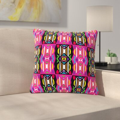 Miranda Mol Lets Party Outdoor Throw Pillow Size: 16 H x 16 W x 5 D