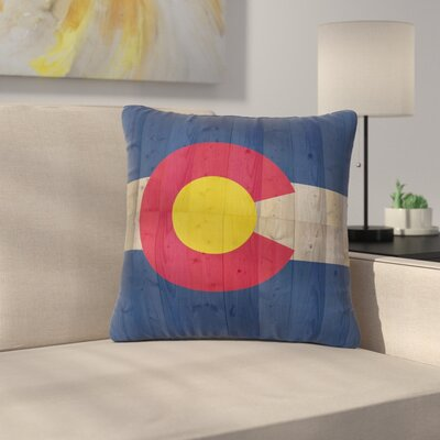 Bruce Stanfield Flag of Colorado Outdoor Throw Pillow Size: 18 H x 18 W x 5 D