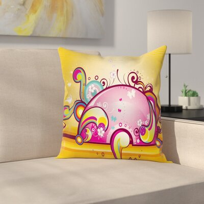 Spiral Vibrant Shapes Line Cushion Pillow Cover Size: 20 x 20