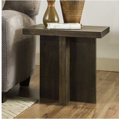 Justice End Table Color: Distressed Oak