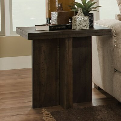 Justice End Table Color: Distressed Walnut
