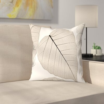 Maja Hrnjak Leaves3 Throw Pillow Size: 18 x 18