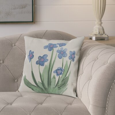 Laymon Throw Pillow Color: Light Blue, Size: 16 x 16