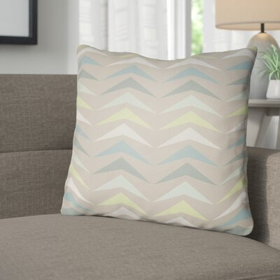 Wakefield Contemporary Square Throw Pillow Size: 18 H x 18 W x 4 D, Color: Teal/Grey/Mint