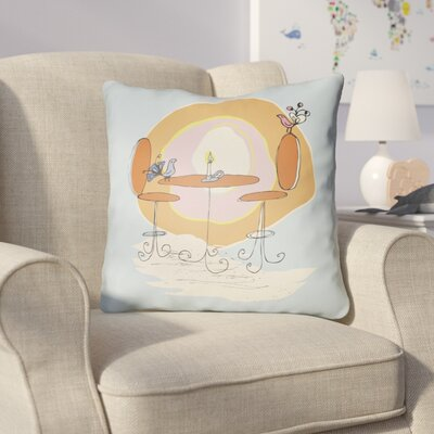 Colindale Square Indoor Throw Pillow Size: 22 H �x 22 W x 5 D, Color: Light Blue