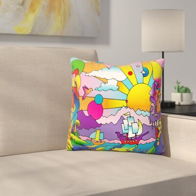 Pirates Throw Pillow Color: Yellow
