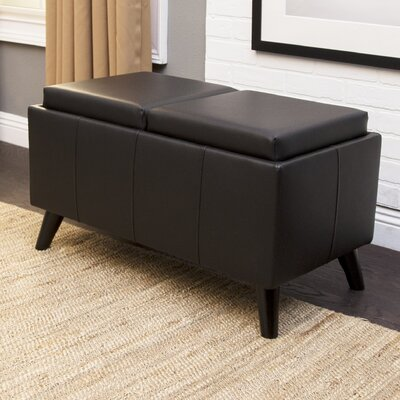 Oshields Convertible Ottoman Finish: Black
