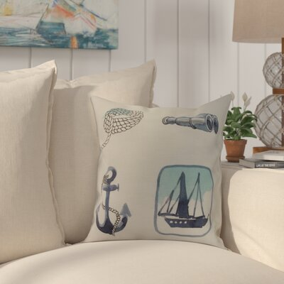 Harriet Sea Tools Throw Pillow Color: Ivory, Size: 16 x 16
