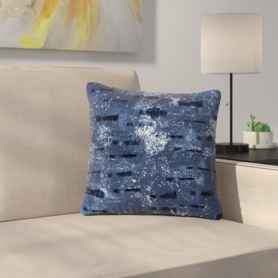 Iris Lehnhardt Tex Mix Outdoor Throw Pillow Size: 18 H x 18 W x 5 D, Color: Blue