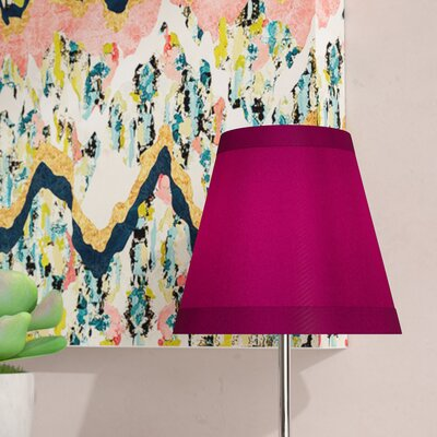 5 Cotton Empire Clip-on Candelabra Shade Color: Fuchsia