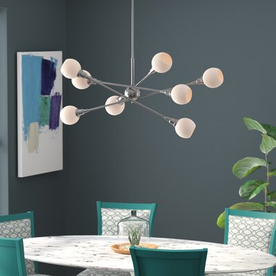 Silvernail 8-Light Dimmable Sputnik Chandelier