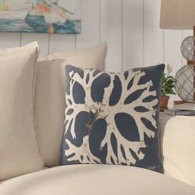 Broadlands Under the Sea Throw Pillow Size: 18, Color: Blue
