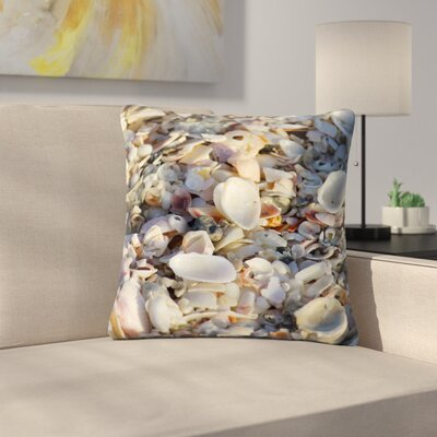 Philip Brown Seashells on the Beach Outdoor Throw Pillow Size: 18 H x 18 W x 5 D