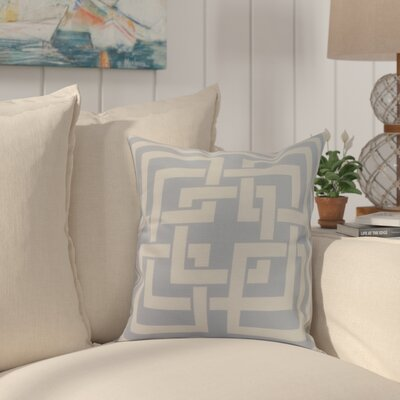 Crider Greek New Key Geometric Print Indoor/Outdoor Throw Pillow Color: Blue, Size: 18 x 18