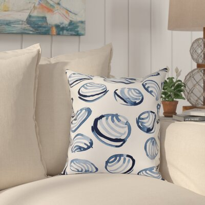Cedarville Clams Geometric Print Throw Pillow Size: 16 H x 16 W, Color: Blue