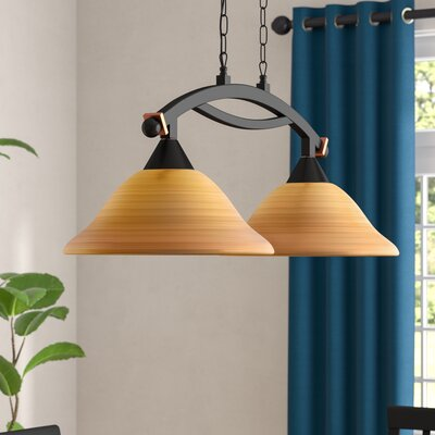 Blankenship 2-Light Kitchen Island Pendant Shade Color: Cayenne