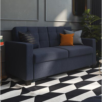 Jovita Sleeper Sofa Color: Navy, Size: Queen