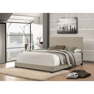 Eleven Avenue Queen Upholstered Platform Bed Color: Gray-Green