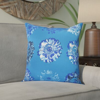 Willa Floral 2 Outdoor Throw Pillow Size: 18 H x 18 W, Color: Blue