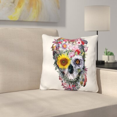 Voodoo Skull Throw Pillow