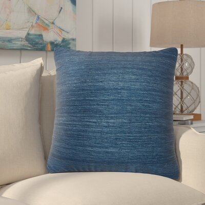 Aryana Solid Indigo Silk Throw Pillow Fill Material: Down/Feather