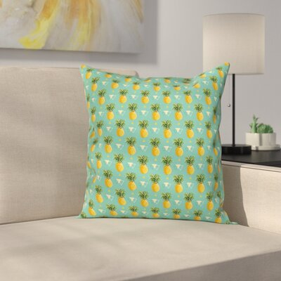 Pineapple Geometric Hipster Square Pillow Cover Size: 16