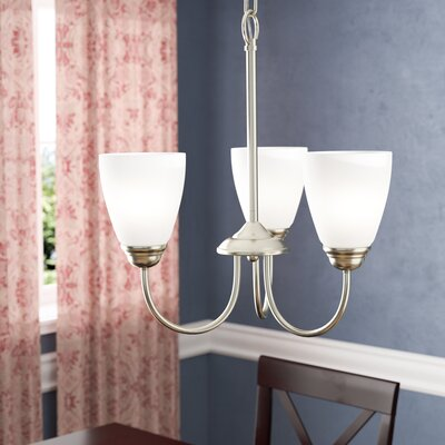 Graybeal 3-Light Shaded Chandelier Finish: Brushed Nickel