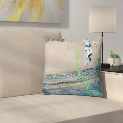 Girl Jumping Rope Throw Pillow